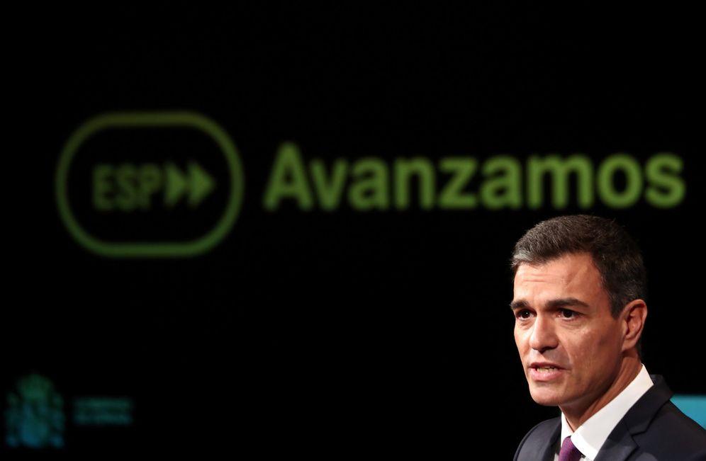 Foto: Pedro Sánchez, durante su acto en la Casa de América de Madrid, este 17 de septiembre. (Reuters)