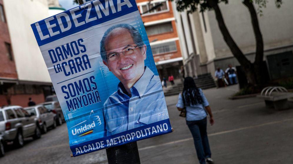 Foto: Propaganda electoral del candidato oficialista a la alcaldía mayor Antonio Ledezma en 2013. (Efe)