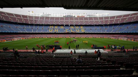 Las imágenes del Camp Nou vacío durante el Barcelona-Las Palmas