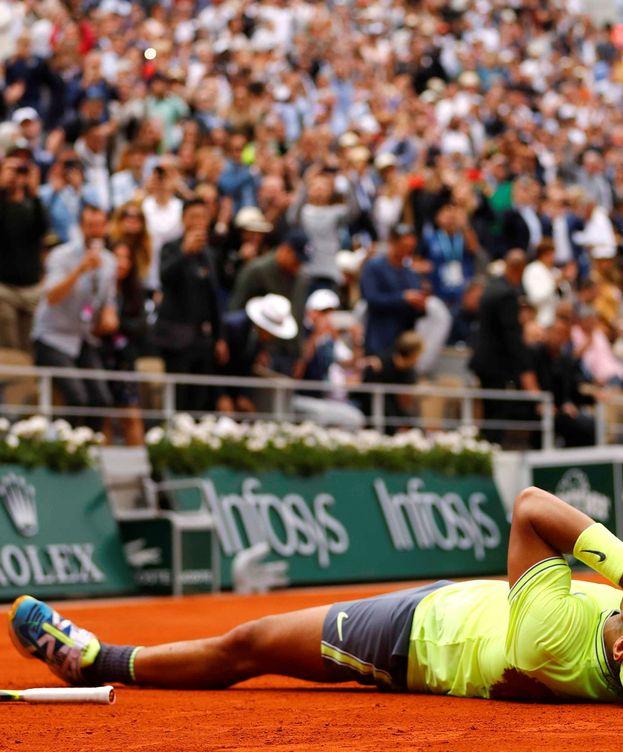 Foto: Rafa Nadal celebrando su último Roland Garros. (Reuters)