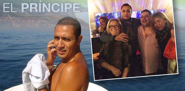 Foto: El actor de 'El Príncipe' junto a Juan Antonio Roca y Mayte Zaldívar en un fotomontaje de Vanitatis
