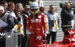 Frustración en Alonso: Si hubiera arrancado, el podio era posible
