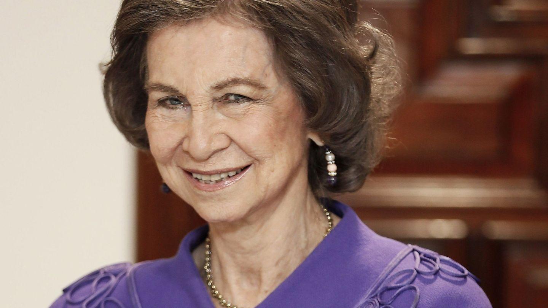 La reina Sofía, otra de las retratadas por Montiel. (EFE)