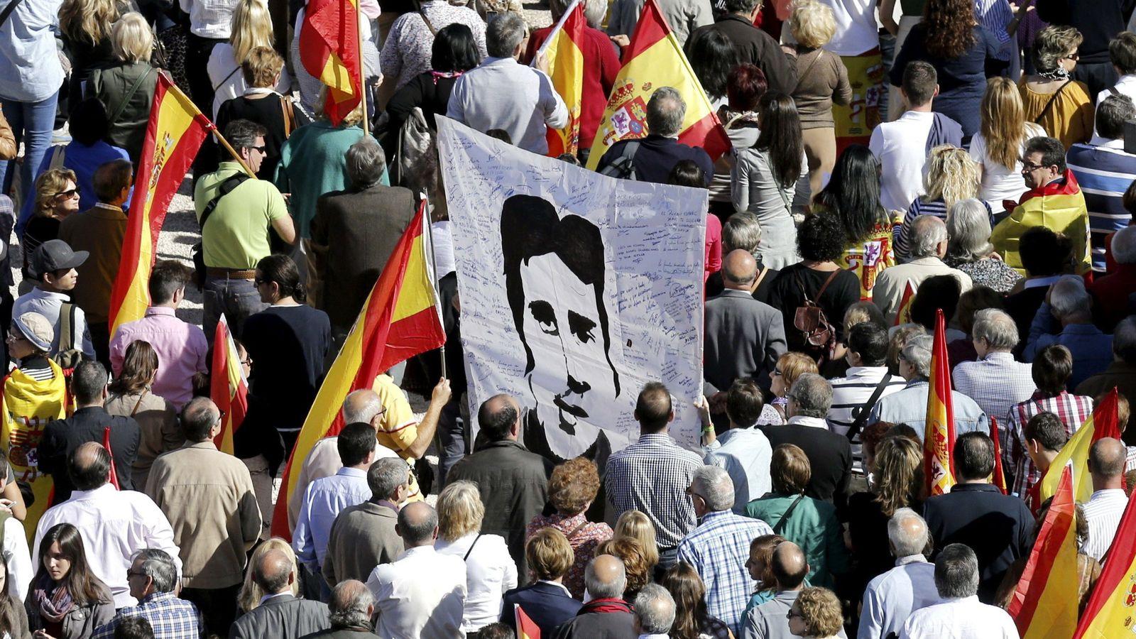 Foto: Imagen de una de las manifestaciones contra el terrorismo en Madrid. (EFE)
