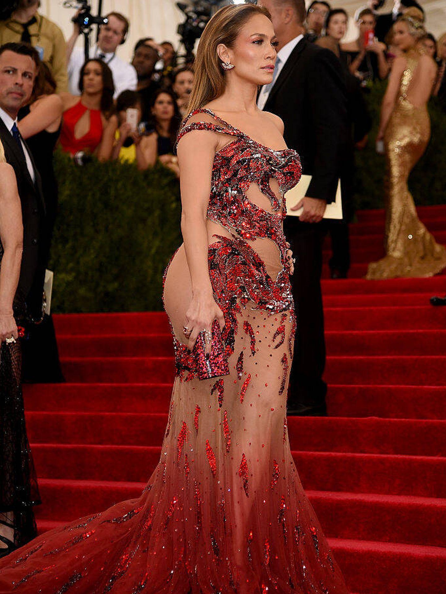 Jennifer Lopez, en la gala del MET 2015. (Getty)