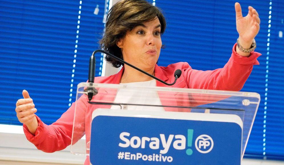 Foto: La candidata a la presidencia del PP, Soraya Sáenz de Santamaría. (EFE)