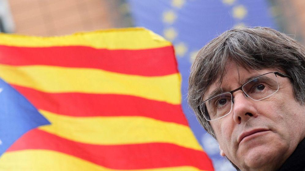 Foto: El expresidente catalán Carles Puigdemont, durante una protesta independentista en Bruselas. (EFE)