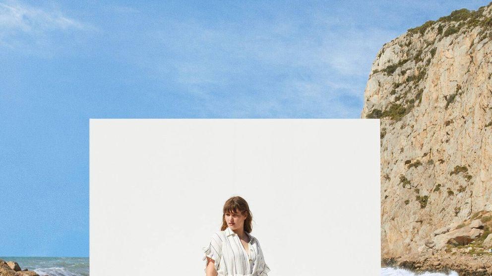 Este vestido blanco de Mango Outlet será tu preferido para verte más delgada