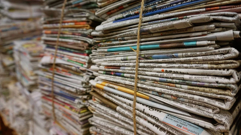 Foto: Periódicos viejos apilados. Foto: Pixabay
