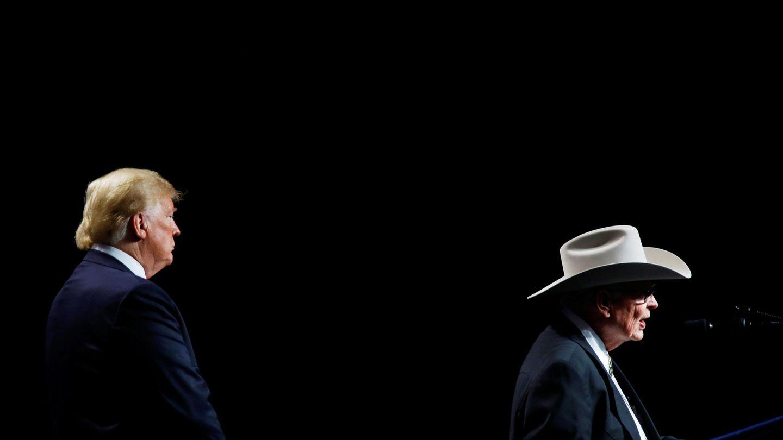 Donald Trump, en una convención de granjeros en Luisiana. (Reuters)