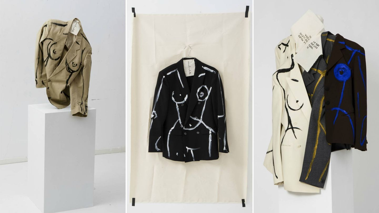 Algunos de los trajes que componen 'La mujer que llevo fuera'. (Imagen: Ernesto Artillo/Cortesía)