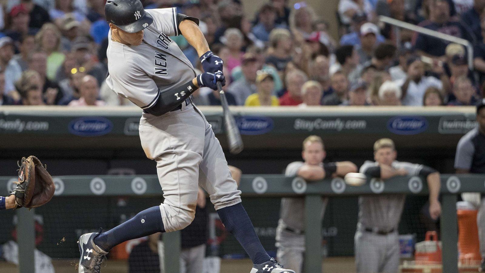 Foto: Aaron Judge, bateando para los Yankees. (EFE)