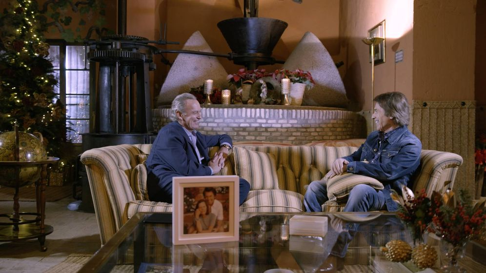 Foto: Bertín Osborne y Raphael durante la entrevista