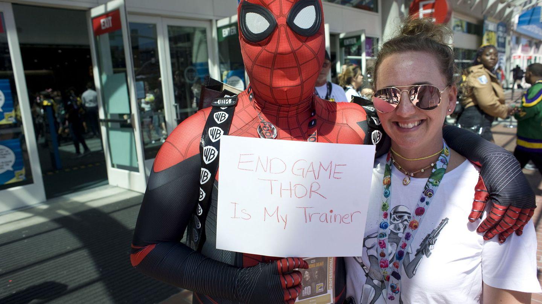 Fans en la convención Comic Con International de 2019 en San Diego, California. (EFE)