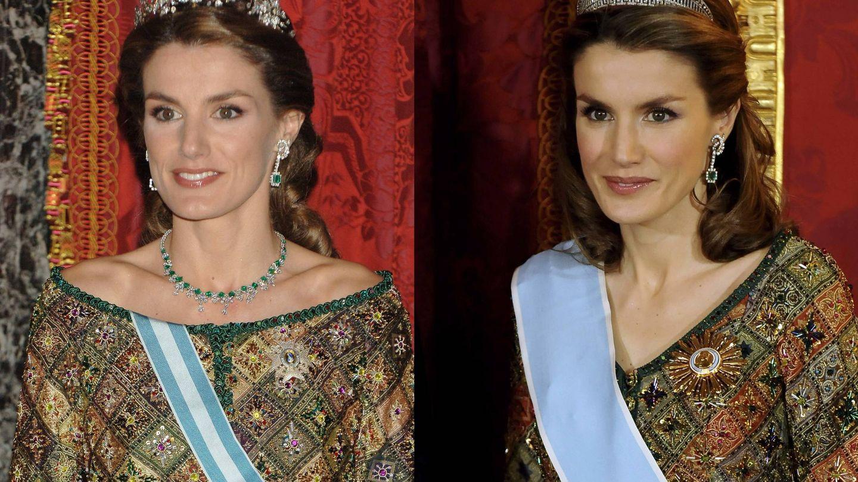 La reina Letizia, en 2006 y en 2009. (Getty)