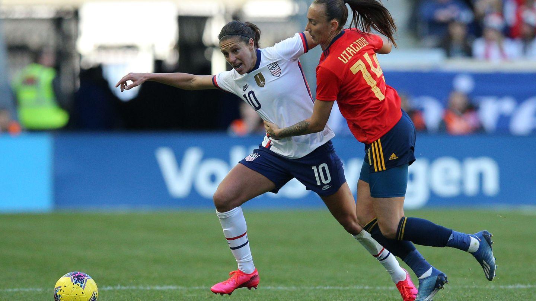 Virginia Torrecilla, en un partido de la Selección, contra Estados Unidos. (REUTESR)