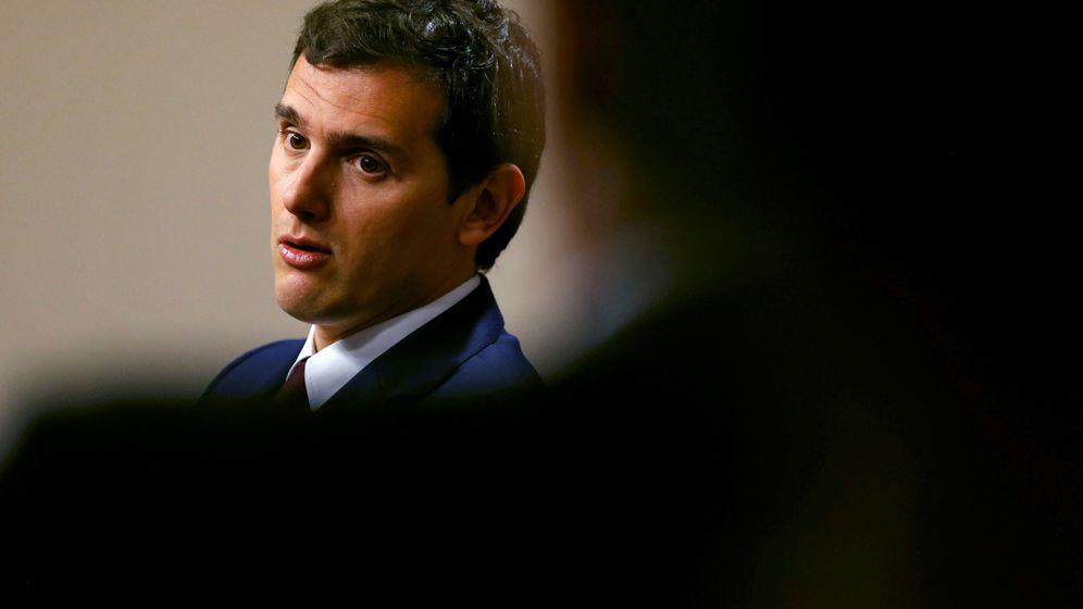 Foto: El presidente de Ciudadanos, Albert Rivera, durante la rueda de prensa. (Reuters)