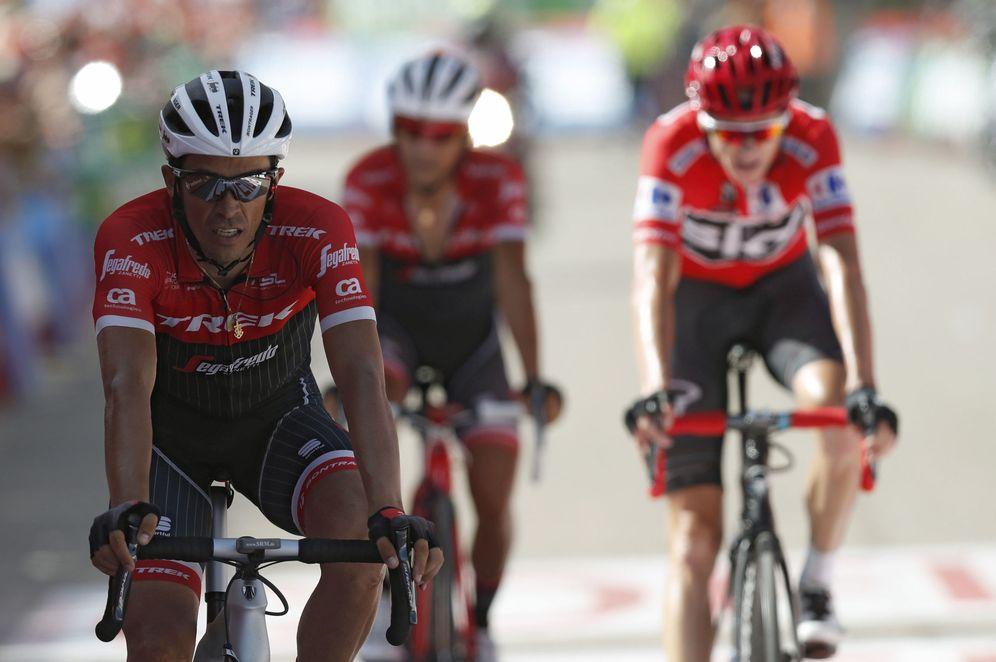Foto: Contador llegó a la vez que Froome. (EFE)