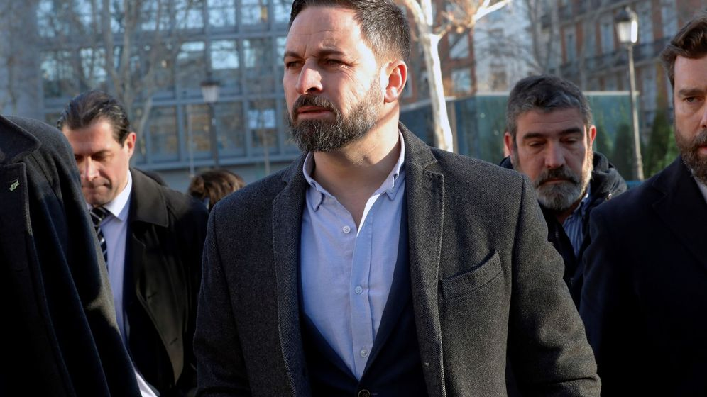 Foto: Santiago Abascal, en las puertas del Tribunal Supremo. (EFE)