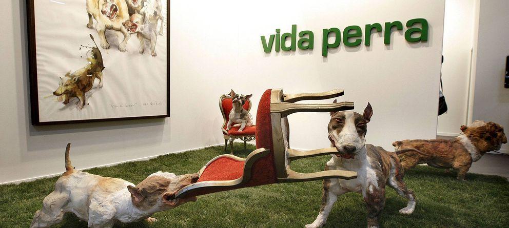 Foto: La obra 'Vida perra' de la Galería MS en ARCO 2010 (EFE)