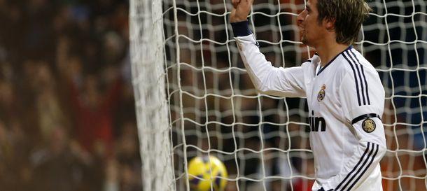 Foto: Fabio Coentrao celebra un tanto en el Santiago Bernabéu (Reuters).