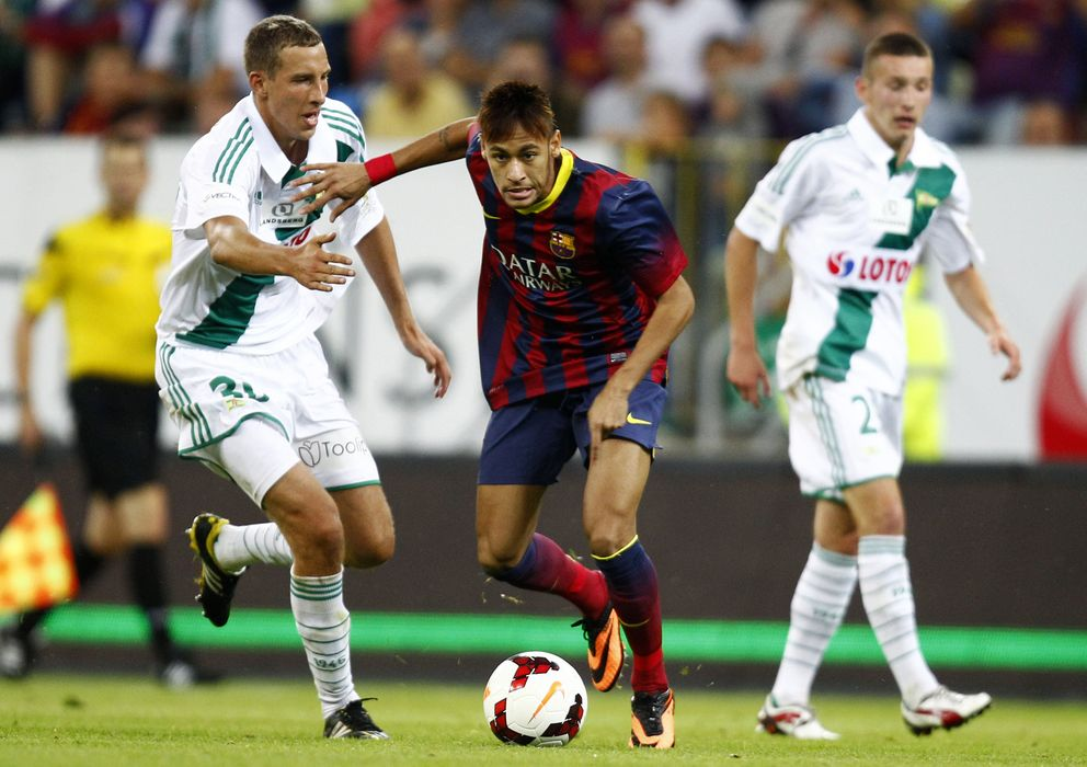 Foto: Neymar en su debut con la camiseta del Barcelona (reuters).