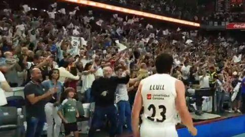 La euforia de Antonio Ferreras con el triple que enchufó el Real Madrid al Barcelona