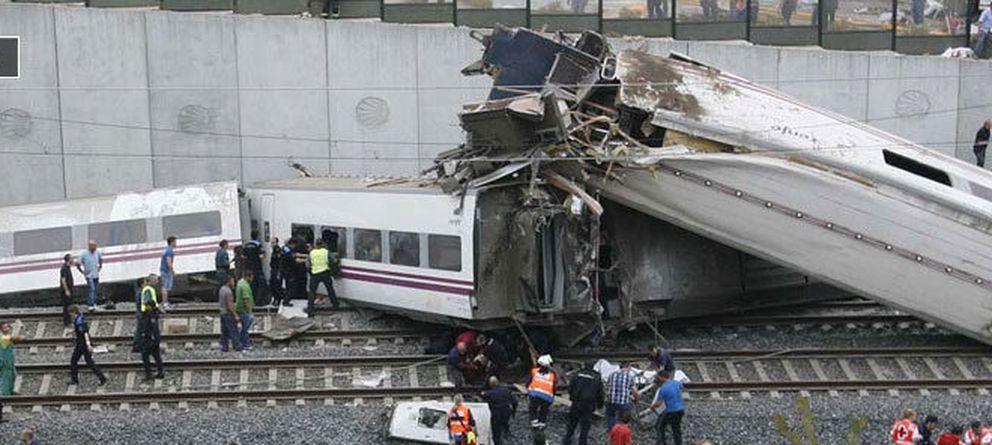Foto: descarrila un tren de pasajeros cerca de santiago de compostela