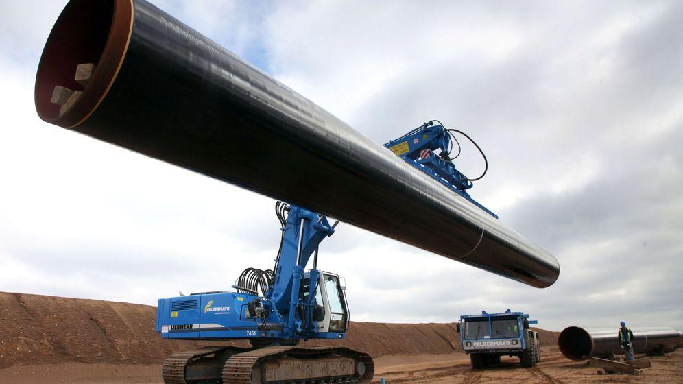Foto: Zona de construcción del gaseoducto Nord Stream 2 (EFE)