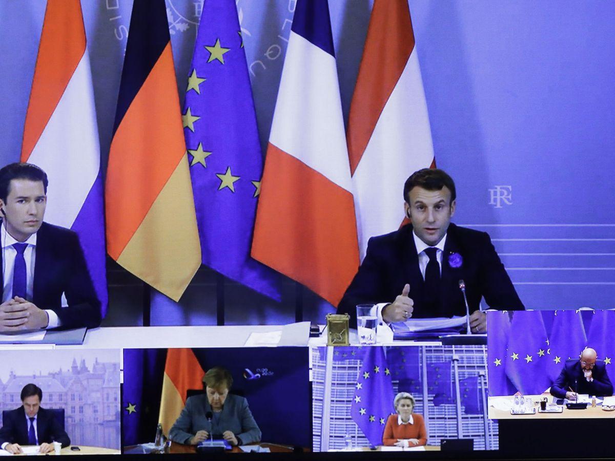 Foto: Algunos líderes europeos durante una conferencia sobre la lucha contra el terrorismo. (EFE)