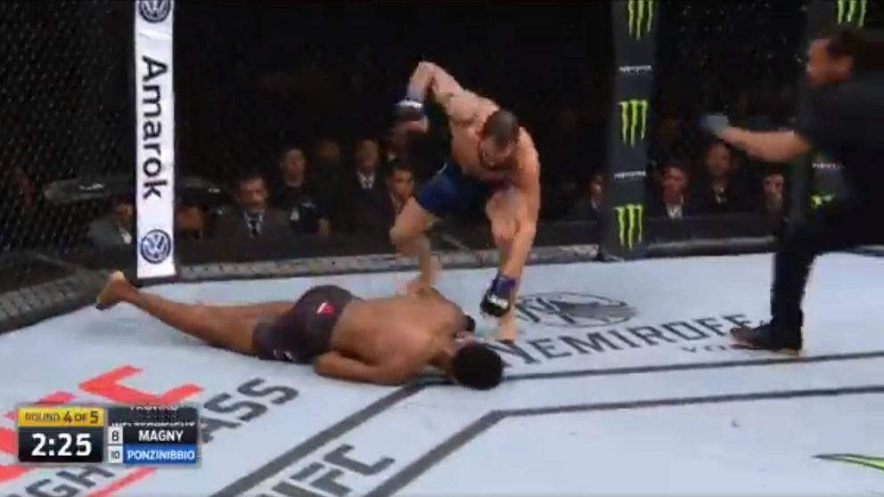 UFC Buenos Aires: Ponzinibbio noquea Magny con una mano derecha brutal