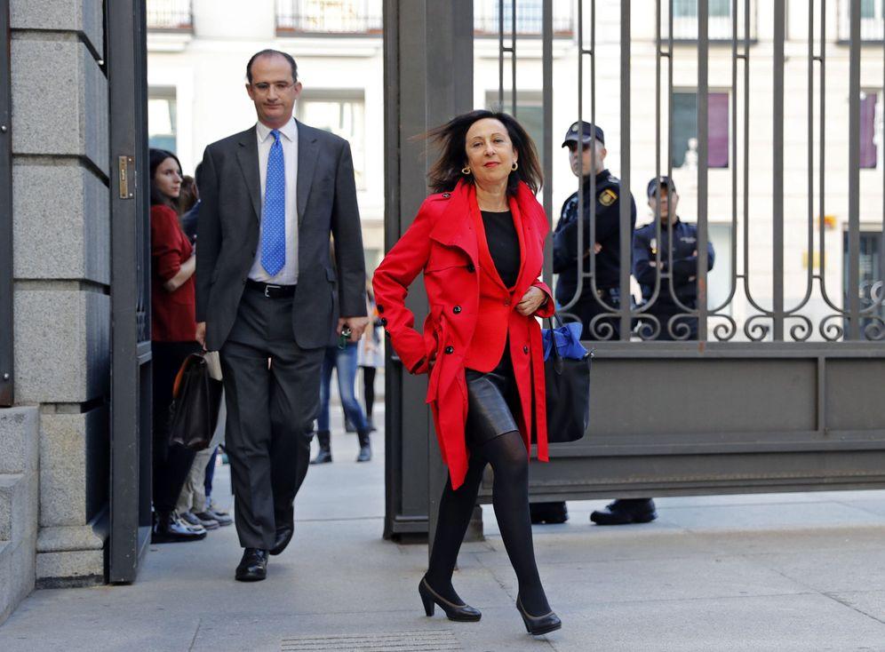 Foto: Margarita Robles, presidenta de la Comisión de Justicia, el pasado 29 de octubre antes del pleno de investidura. (EFE)