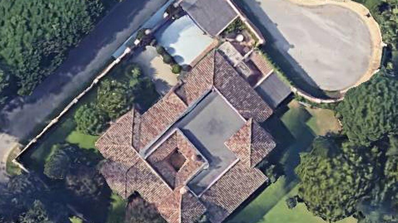 Vista aérea de la casa de los Aznar en Marbella.