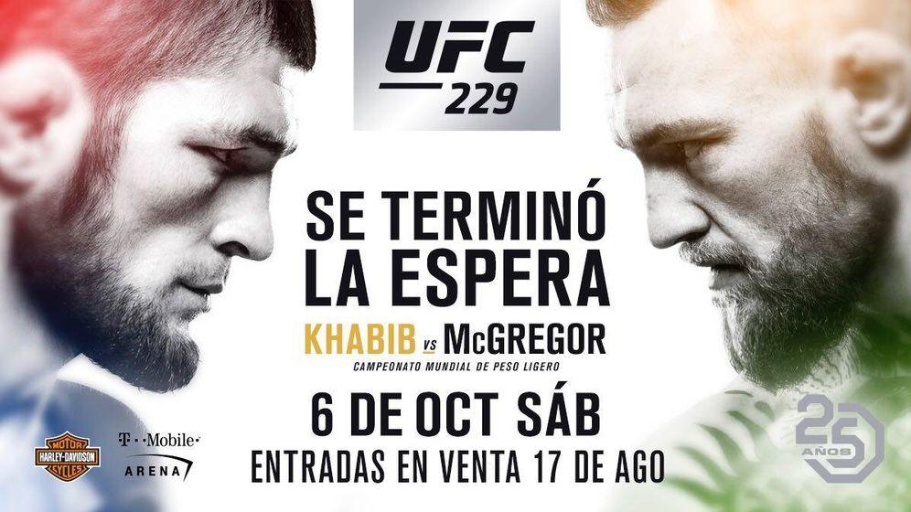 Foto: El cartel que anuncia la pelea entre Conor McGregor y Khabib Nurmagomedov. (UFC)