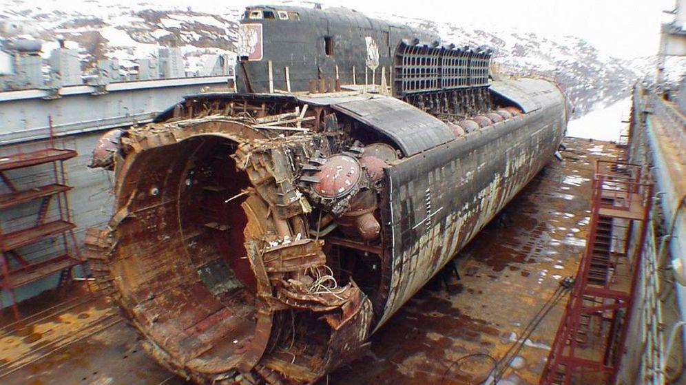Foto: Restos del submarino ruso Kursk