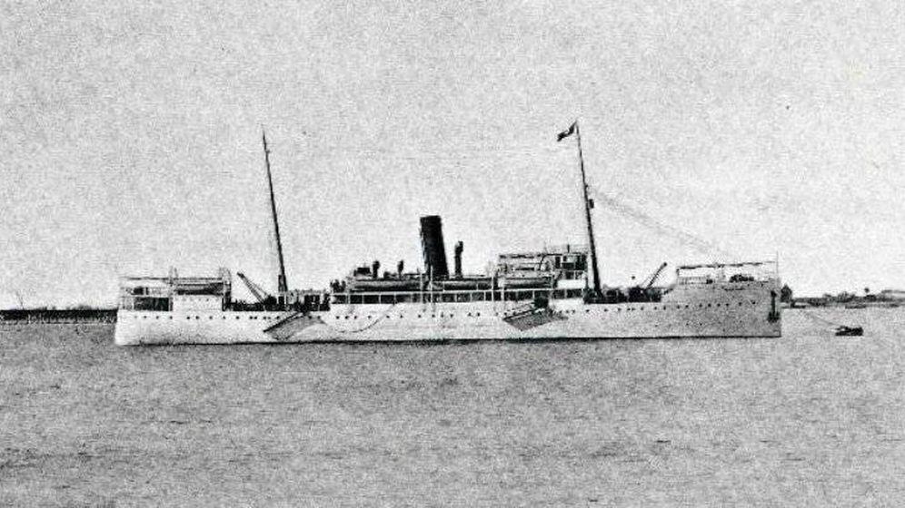 Foto: Una imagen del transatlántico Santa Isabel. (Archivo de la Compañía Transatlántica Española)