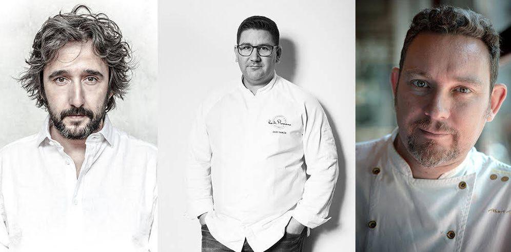 Foto: Diego Guerrero, Dani García y Albert Adriá, tres de los chefs del A Cuatro Manos