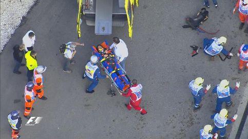 Duro accidente de un Sainz que deja el hospital tras estar ingresado unas horas
