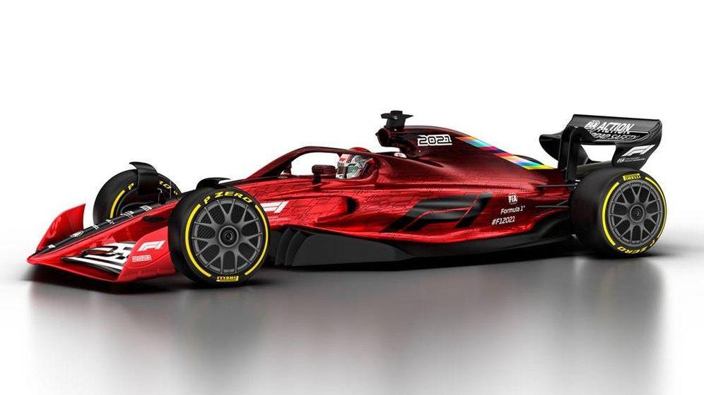 Foto: El prototipo del nuevo monoplaza que llegará en 2021. (F1)