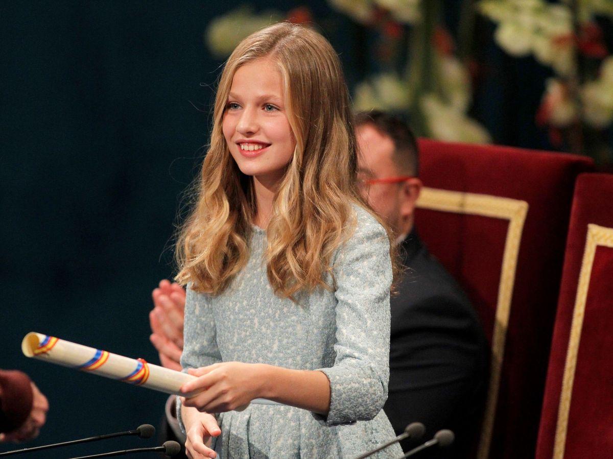 Foto: La princesa Leonor, en la ceremonia de entrega de los Premios Princesa de Asturias 2019. (EFE)