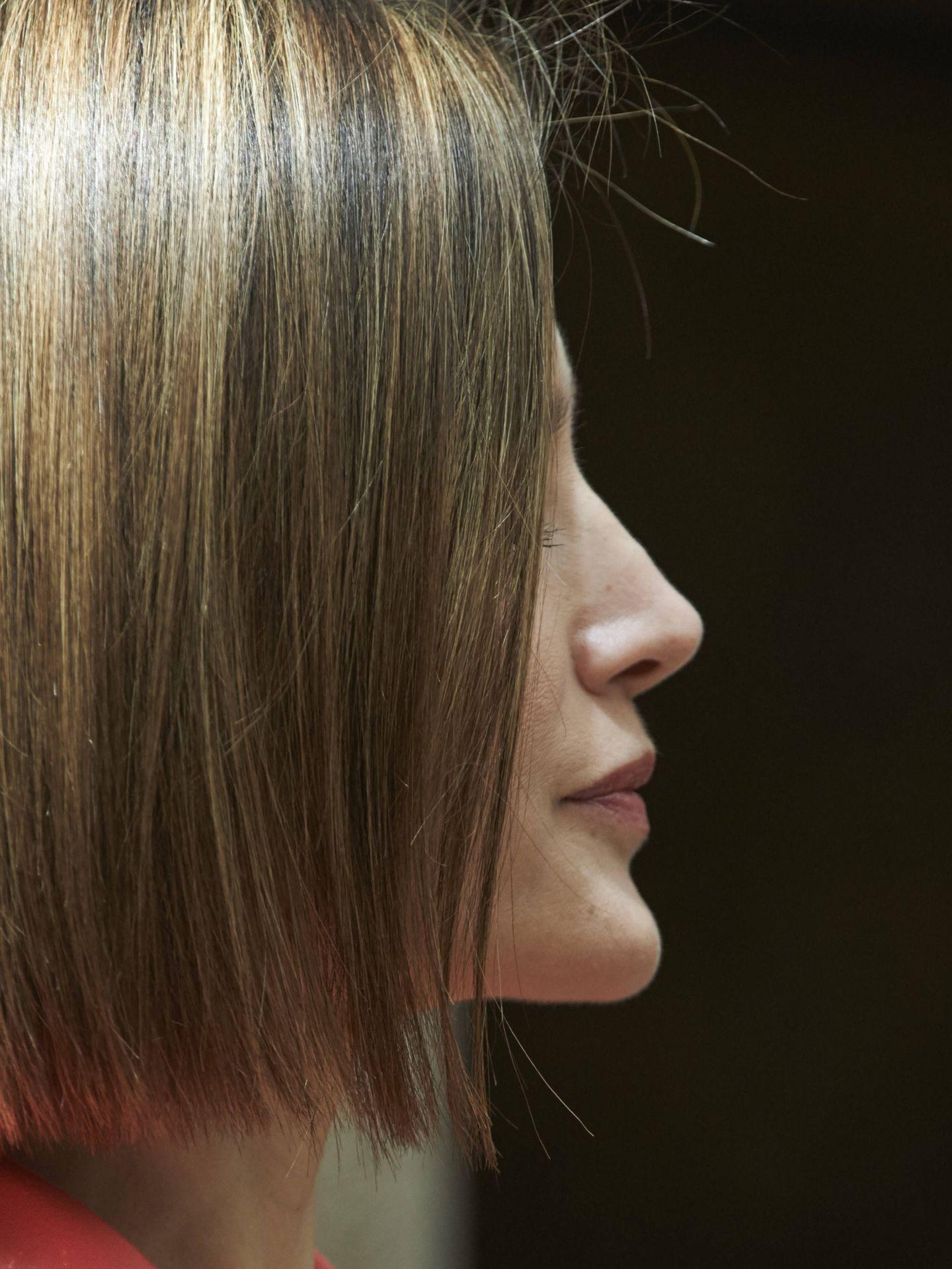 Detalle del corte de pelo de Letizia de perfil. (Getty)
