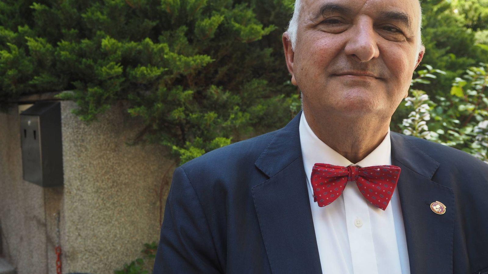 Foto: El autor, durante la presentación en Madrid de su último libro. (Foto: Héctor G. Barnés)