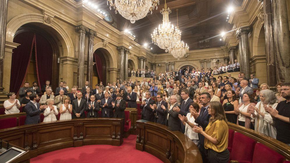 Foto: Imagen del interior del Parlament en la anterior legislatura. (EFE)