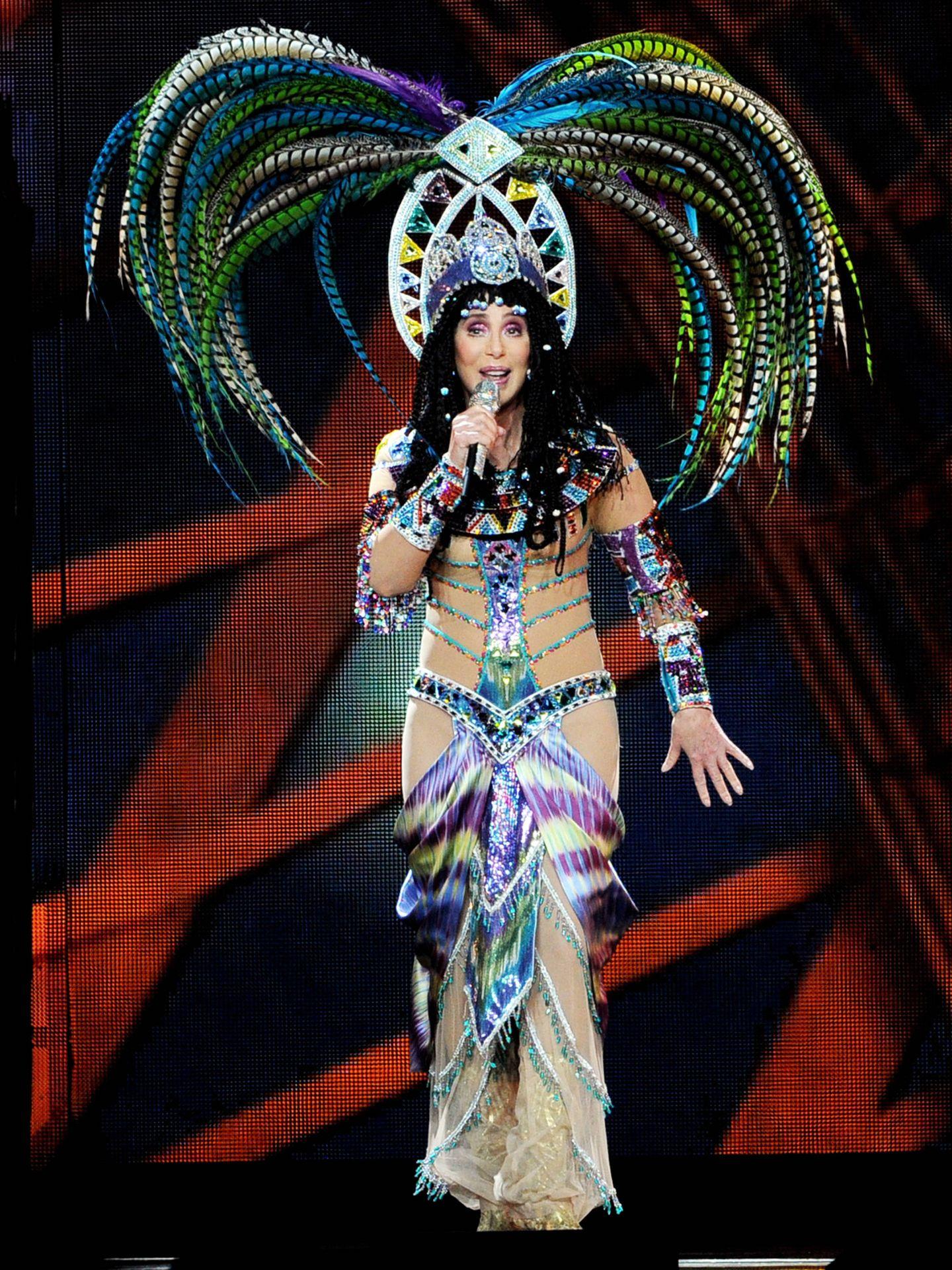 Cher en un concierto con Cyndi Lauper (Getty Images).