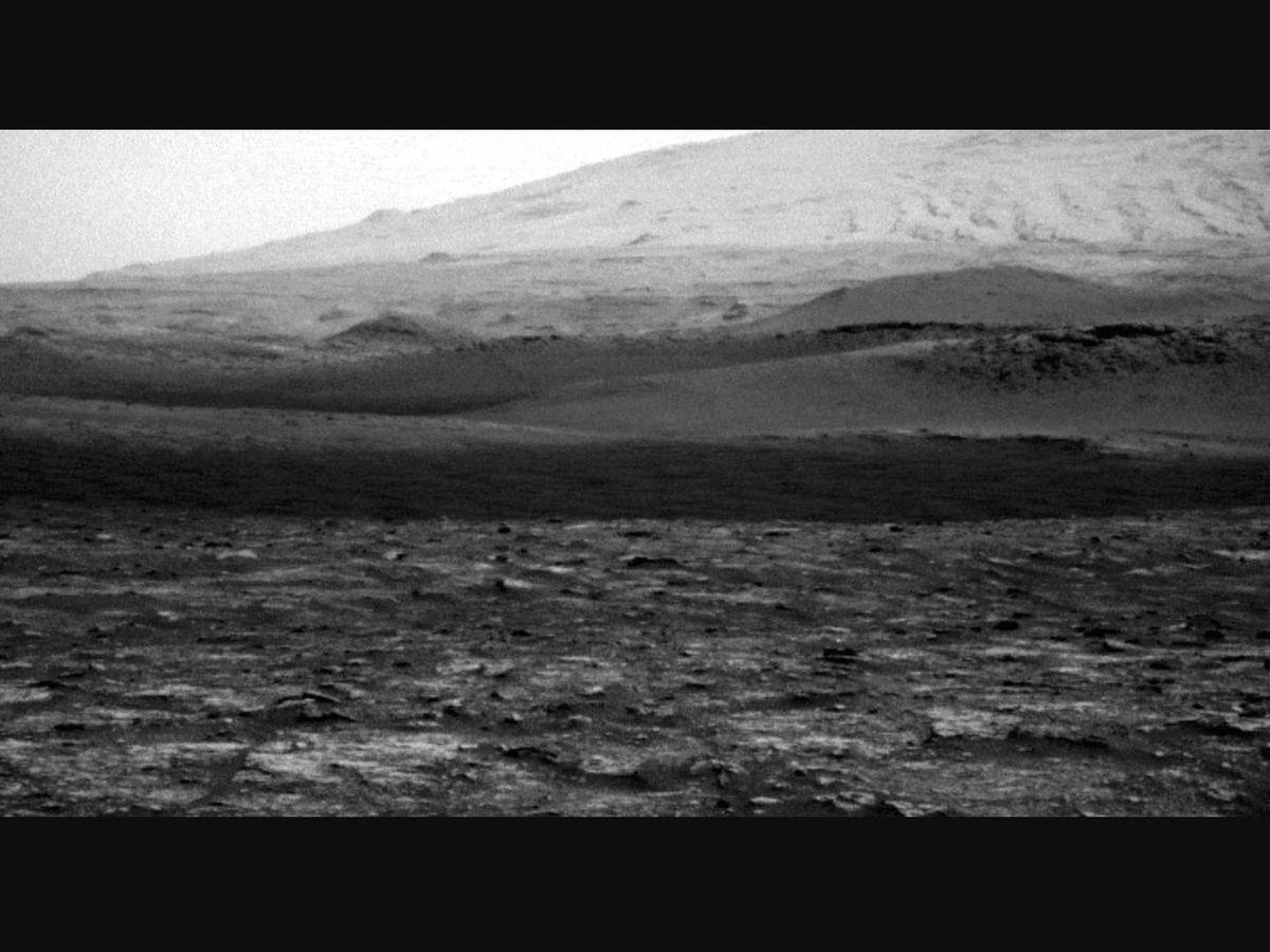Foto: Imagen del diablo de viento captado por el Rover Curiosity. (NASA)