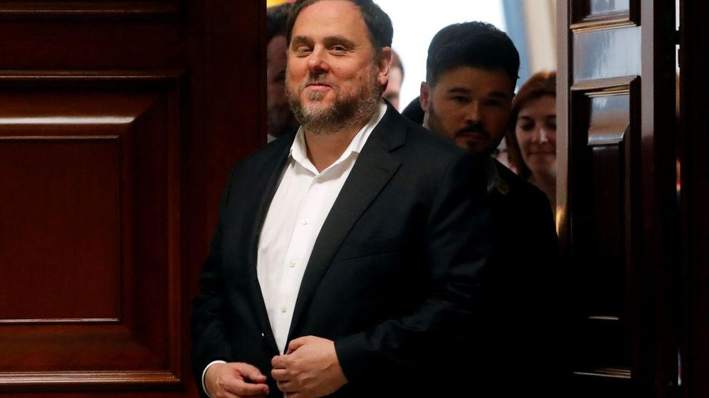 Foto: Oriol junqueras abandona el Congreso de los Diputados el pasado mayo. (Reuters)