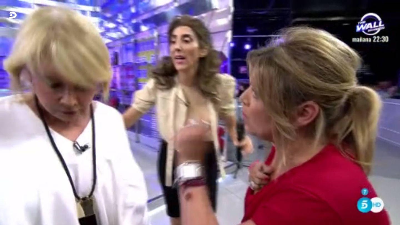 Terelu se encara ante Mila Ximénez en 'Sálvame'). (Mediaset España)