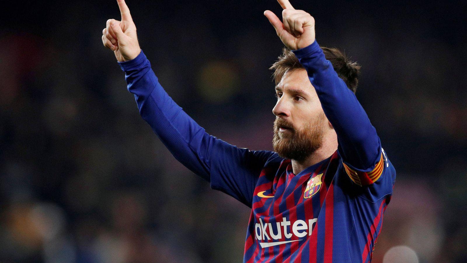 Foto: Leo Messi celebra un gol con el FC Barcelona. (Reuters)