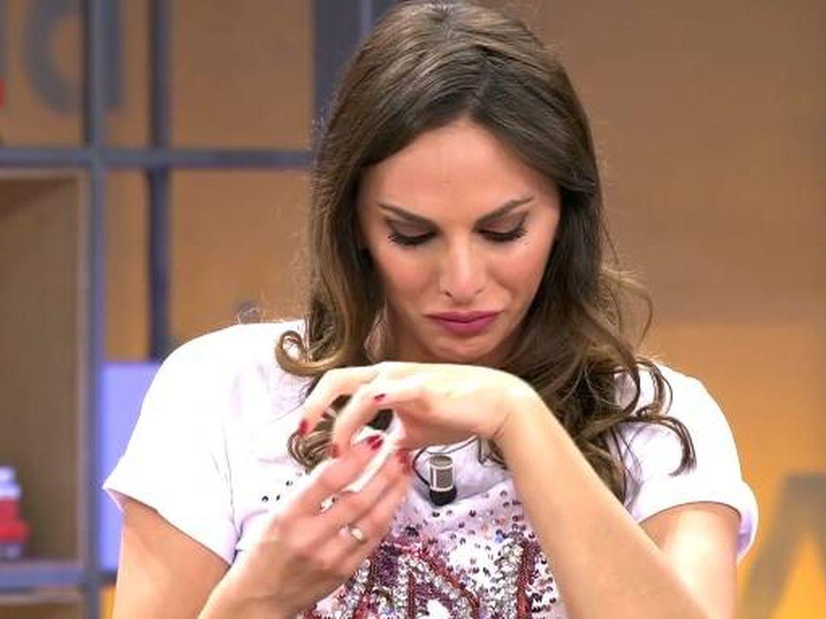 Foto: Irene Rosales llorando. (Telecinco).