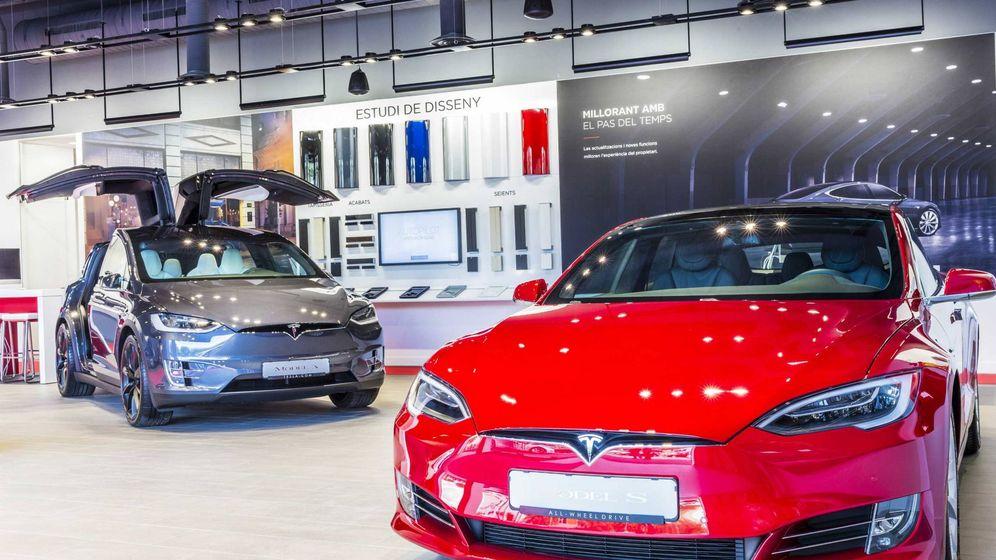 Foto: Instalaciones de la tienda Tesla en L'Hospitalet, donde se ha mostrado estos días el nuevo Model 3.